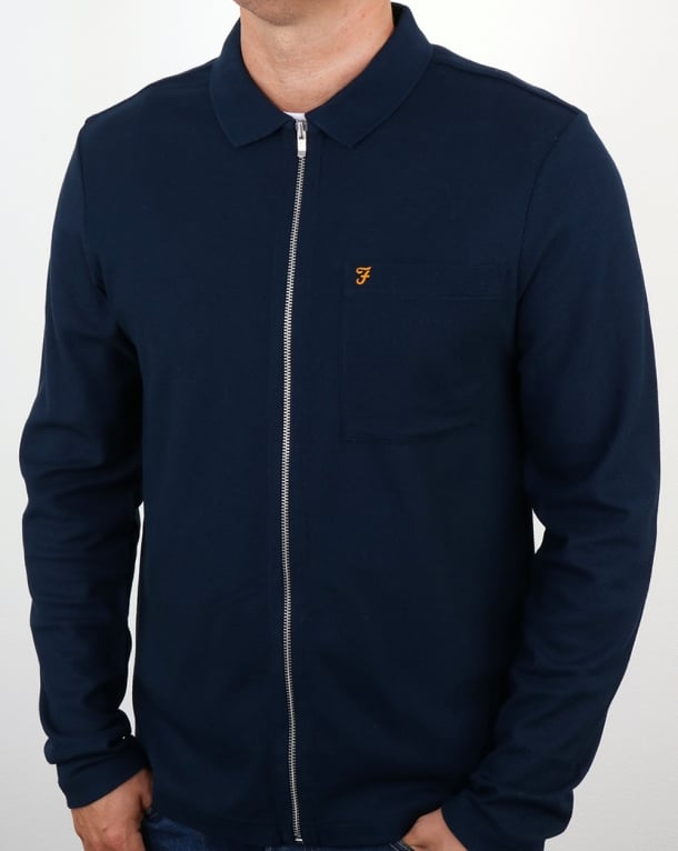 Farah Sundew Shirt Jacket Yale Blue