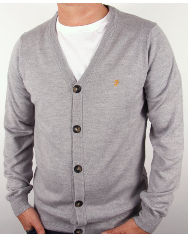 Farah Tallow Cardigan Grey