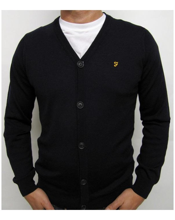 Farah Tallow Cardigan Navy