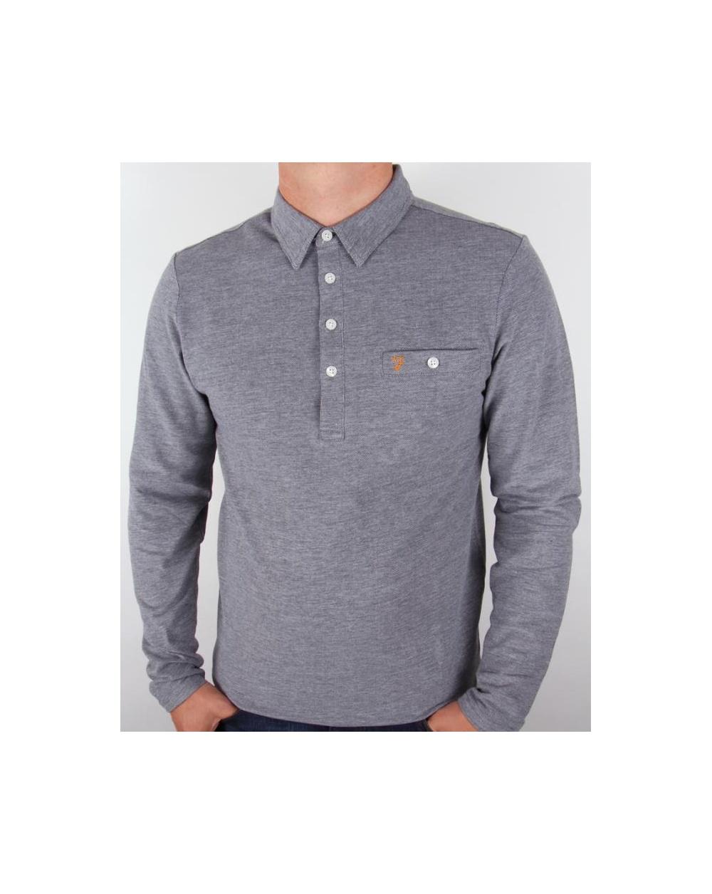 Farah Tennyson L/s Polo Shirt True Navy