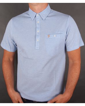 Farah Tennyson Polo Shirt Polar Blue