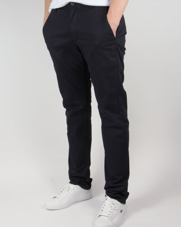 Farah Twill Chino Trousers True Navy
