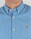 Farah Vintage Argyle Short Sleeve Shirt Sierra Blue