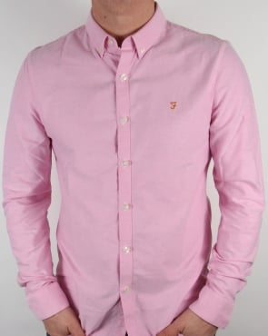 Farah Vintage Brewer Shirt Azealia Pink