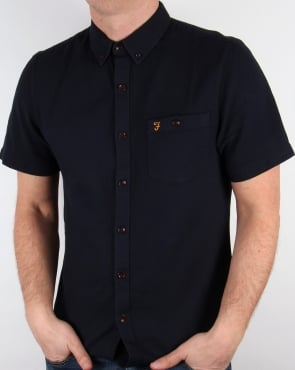Farah Vintage Colbeck Short Sleeve Shirt True Navy