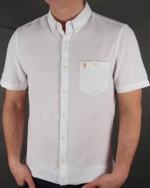 Farah Vintage Colbeck Short Sleeve Shirt White