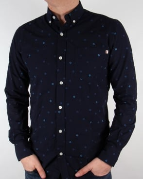 Farah Vintage Eamont Shirt True Navy