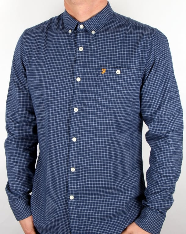 Farah Farah Webber Shirt Dark Denim