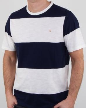 Farah Woolacombe T Shirt True Navy