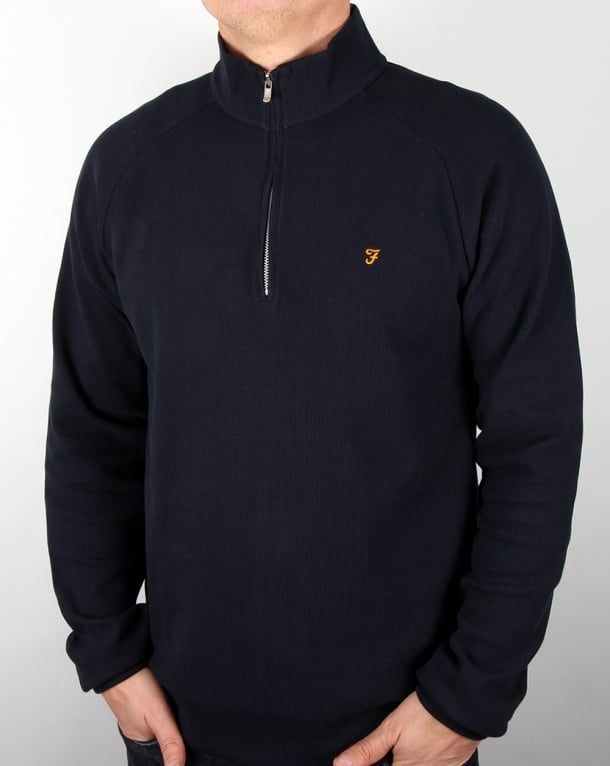 Farah Farah Yves Quarter Zip Jacket True Navy