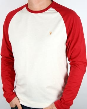 Farah Zemlak Raglan T Shirt Deep Red