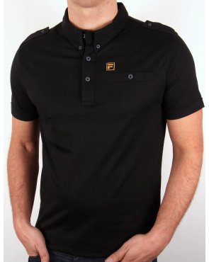 Fila Gold Balsini Polo Shirt Black