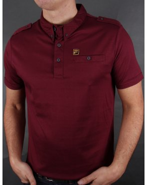 Fila Gold Balsini Polo Shirt Deep Plum