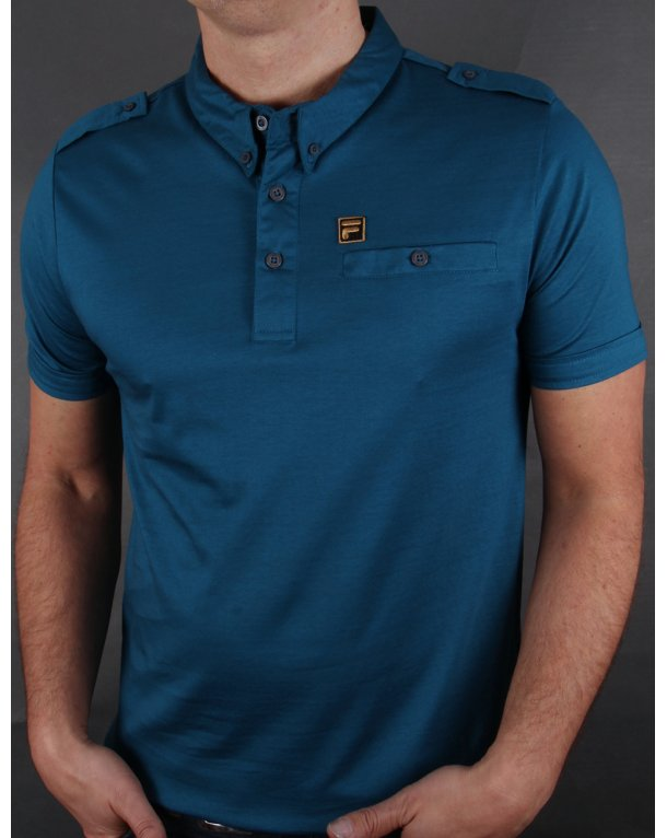 Fila Gold Balsini Polo Shirt Ink Blue