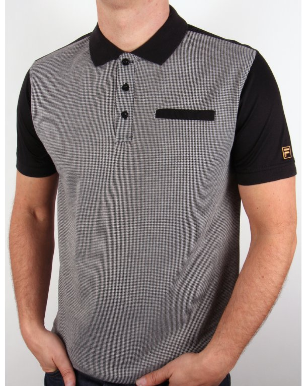 Fila Gold Brosway Polo Shirt Houndstooth