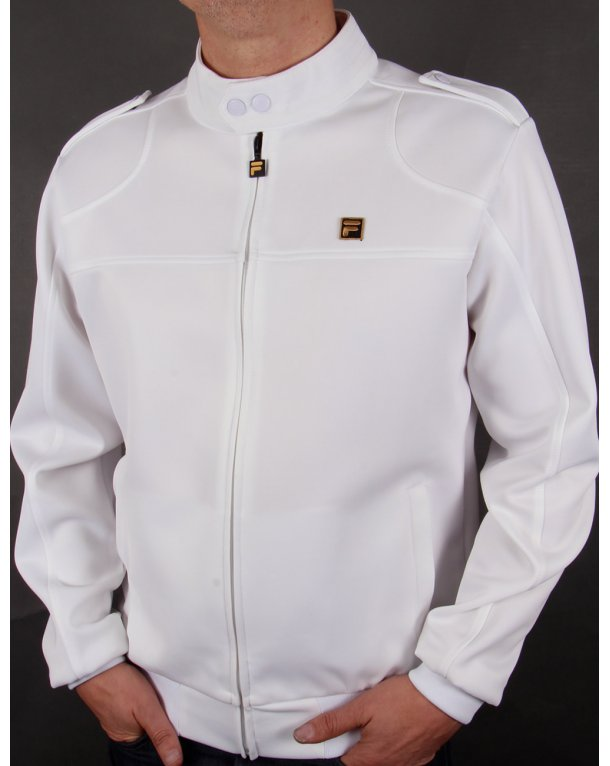 Fila Gold Indianapolis Track Top White