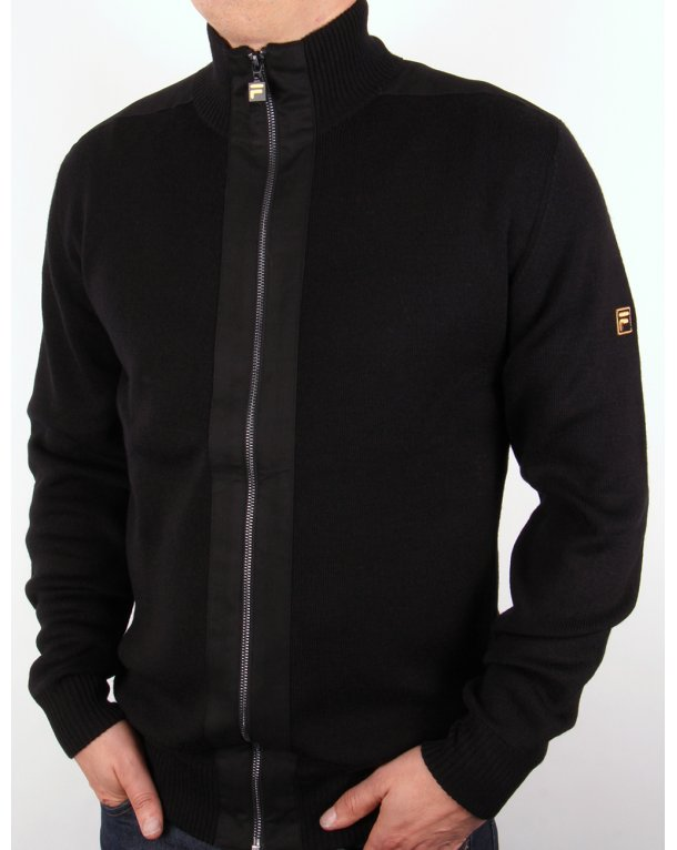 Fila Gold Matador Knitted Zip Up Black