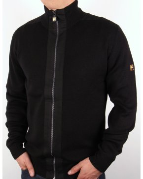 Fila Vintage Fila Gold Matador Knitted Zip Up Black