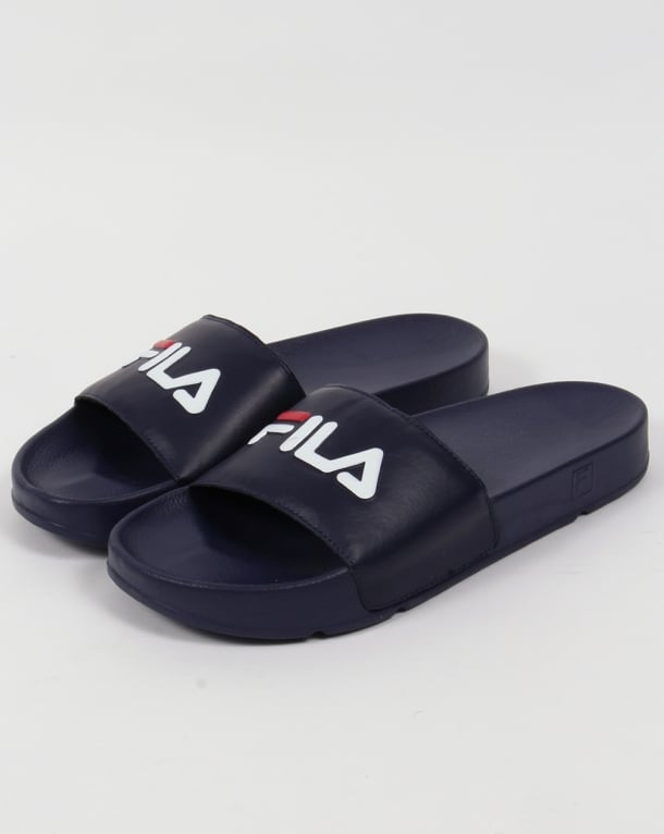 Fila Heritage Drifter Pool Sliders Navy