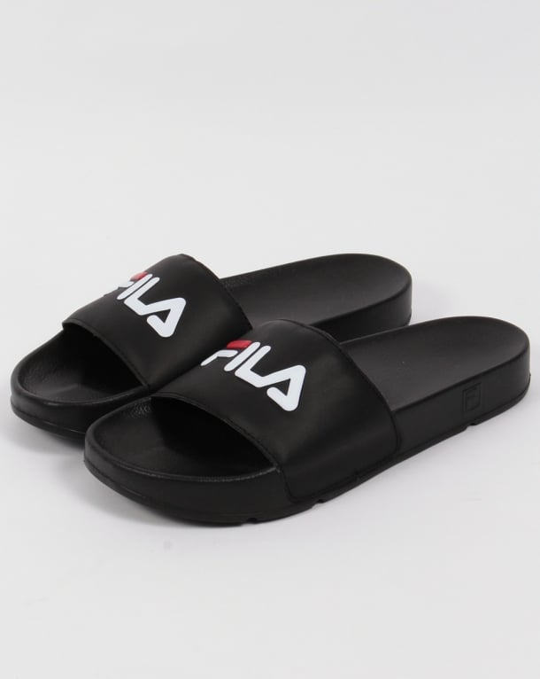Fila Heritage Drifter Pool Slides Black