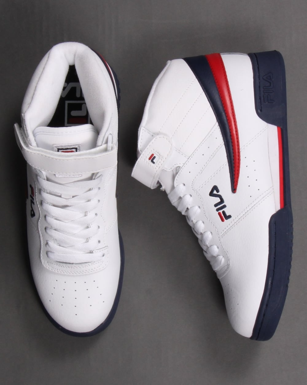 166ffa1d64 Fila Vintage F-13 Trainers White,high tops,shoes,basketball