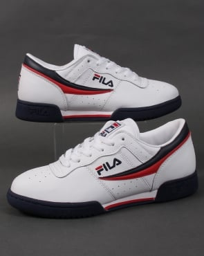 Fila Vintage Fila Heritage Original Fitness Trainers White/Navy/Red