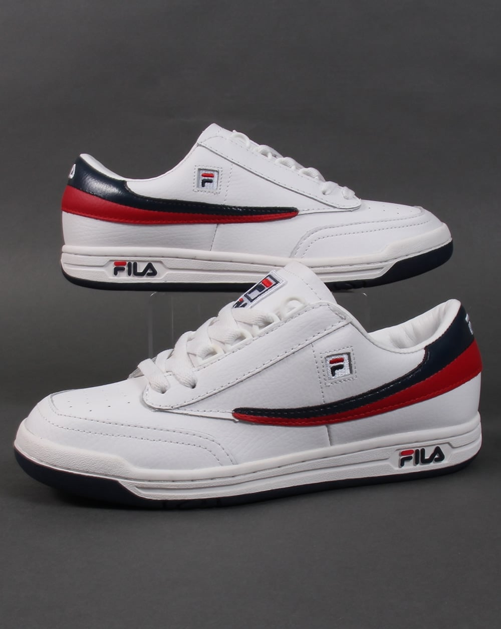 Fila Original Trainers Whitenavyred Tennis Heritage fybg7Y6