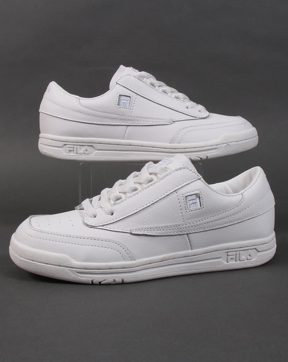 Fila Vintage Original Tennis Trainers White Shoes Sports Mens