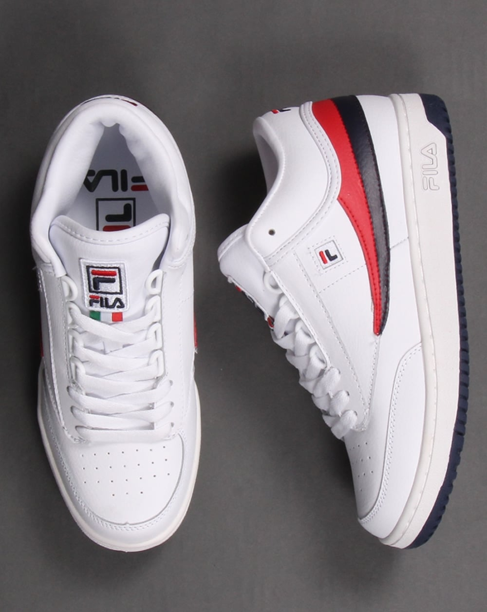 Fila Vintage T Navy  Red High Top