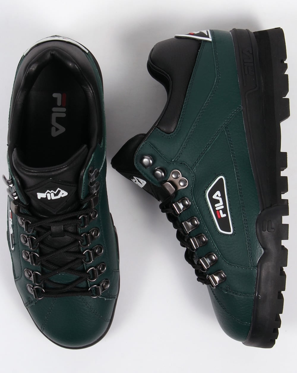 Fila Trailblazer Boots Green,leather,hiking,mens