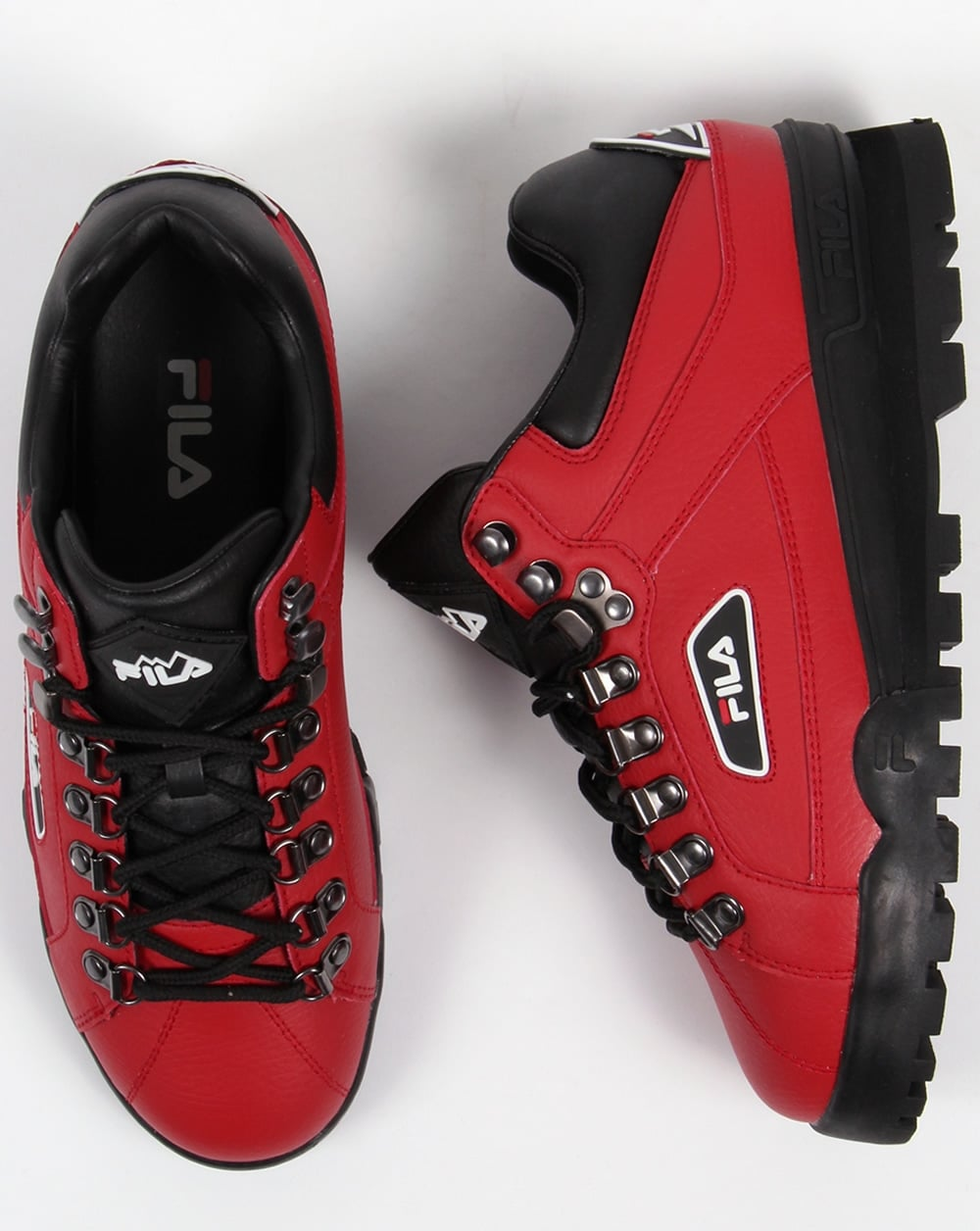Fila Vintage Trailblazer Boots Red,leather,hiking,mens, Biking