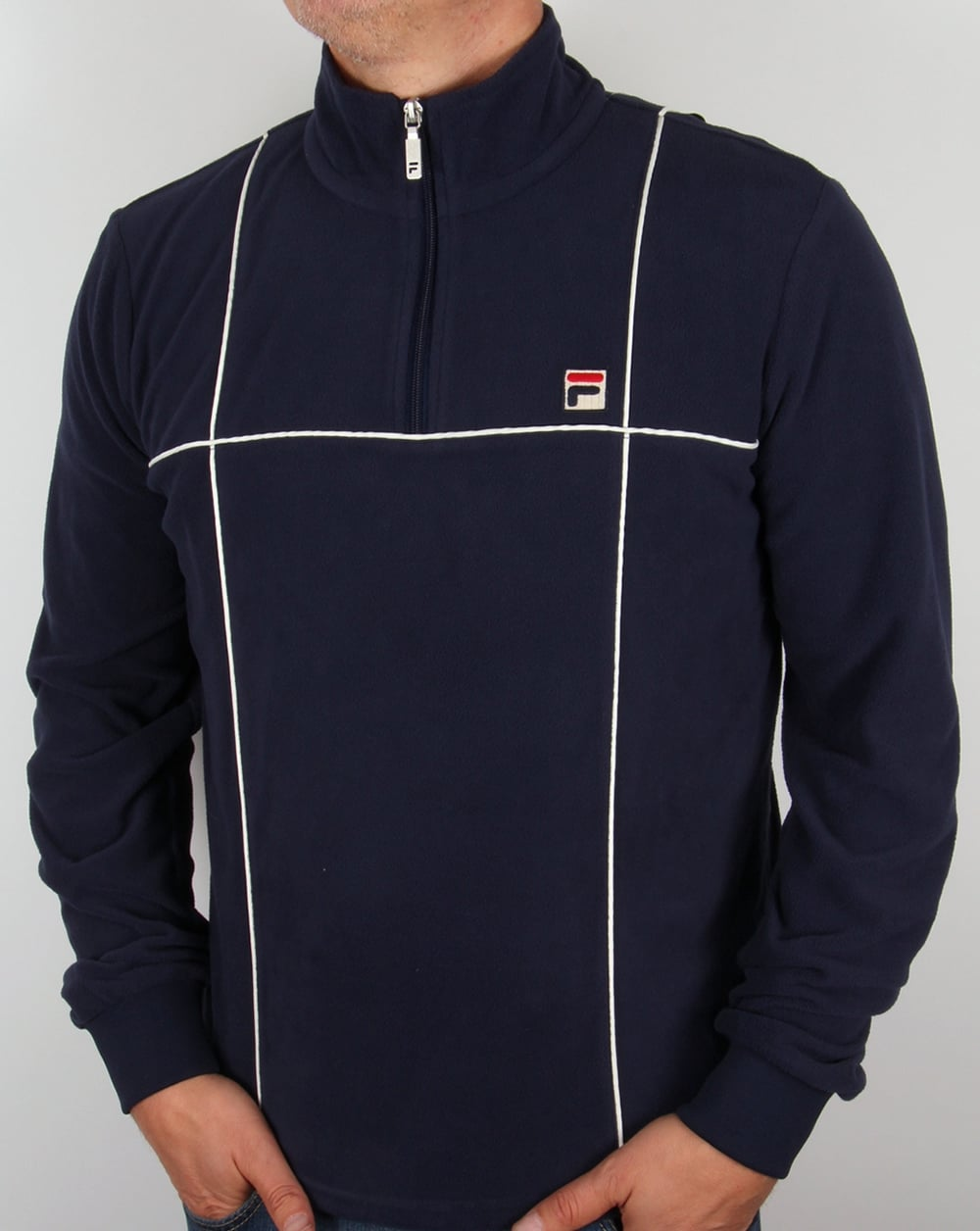 251000ad6628 Fila Vintage Microfleece Navy,zip-up, quarter, sweater,jacket