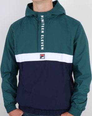 Fila Vintage 1911 Qtr Zip Jacket Atlantic Deep/Navy/White