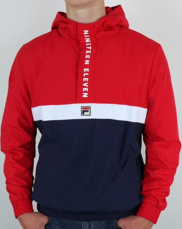 c6e4d00d08af Fila Vintage Jacket, Red,Navy,White, Quarter Zip,1911,Tucker, Cagoule