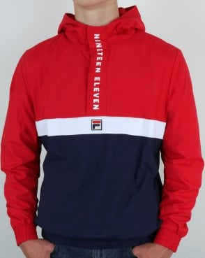 Fila Vintage 1911 Qtr Zip Jacket Red/Navy/White