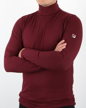 Fila Vintage 20th Roll Neck Rum Raisin