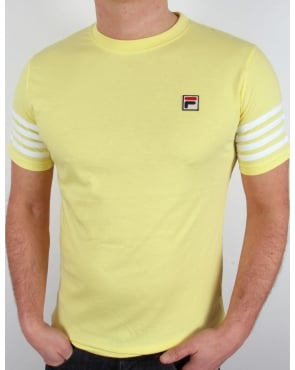 Fila Vintage 4 Stripe T-shirt Yellow