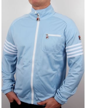 Fila Vintage 4 Stripe Track Top Sky Blue/White