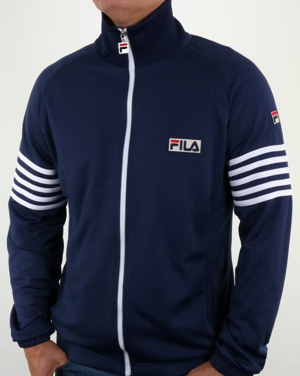 Fila Vintage 5 Stripe Track Top Navy