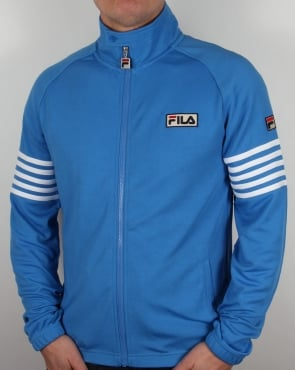 Fila Vintage 5 Stripe Track Top Ocean Blue/White