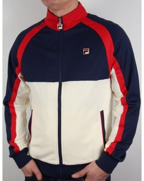 Fila Vintage 70s Original Track Top Navy/red/gardenia