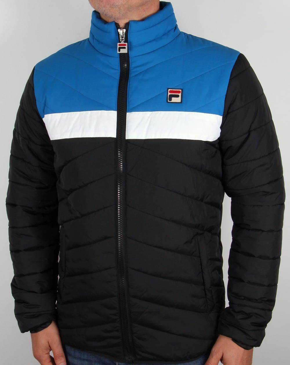 Fila Vintage 80s Ski Jacket Black/Blue