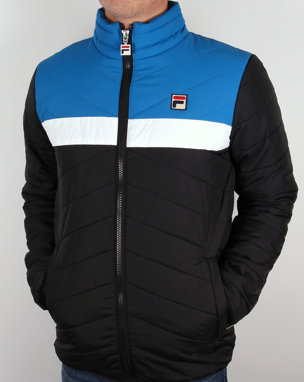 Fila Vintage 80s Ski Jacket Black/Blue