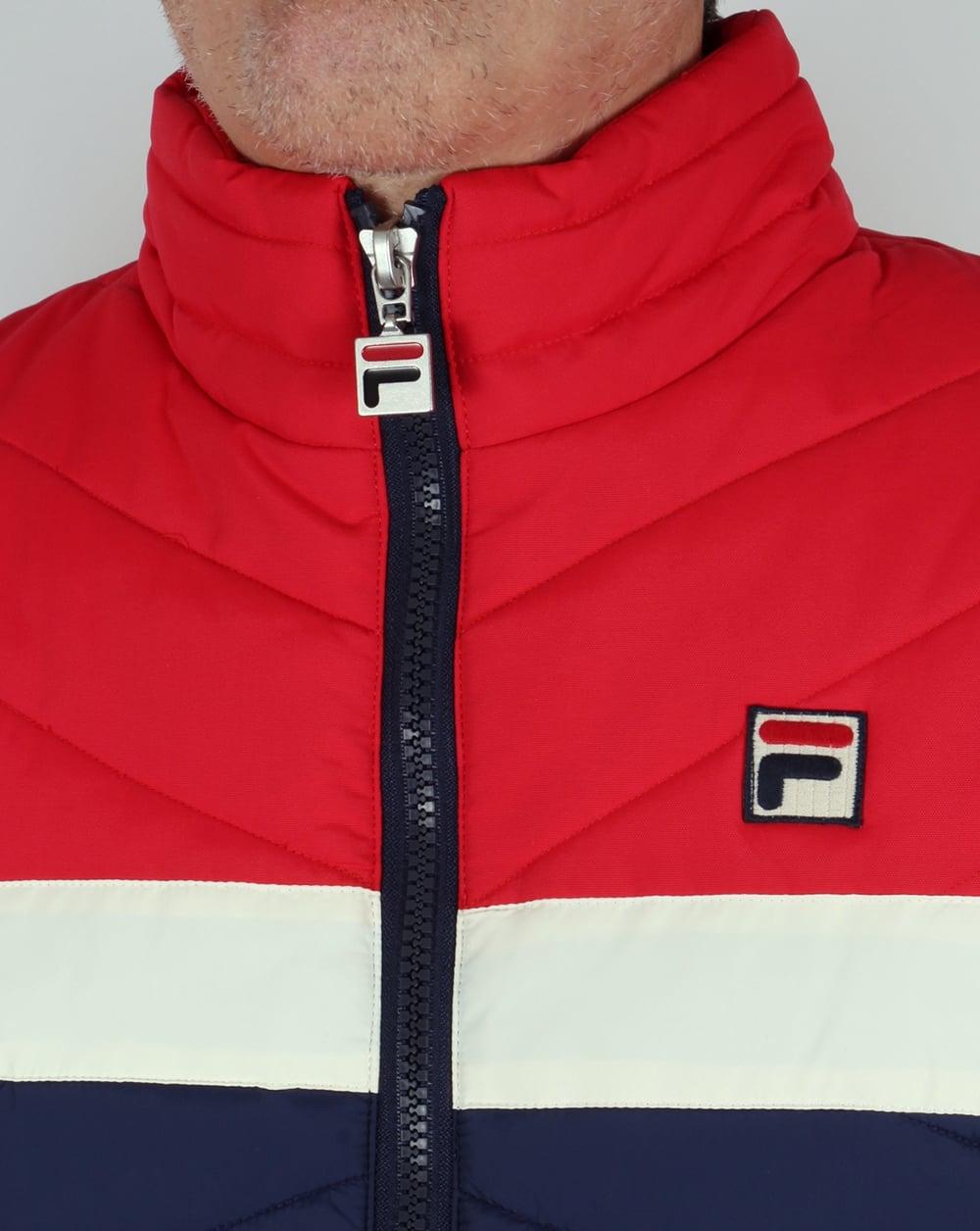 Fila Vintage 80s ski Jacket Navy/Gardenia/Red