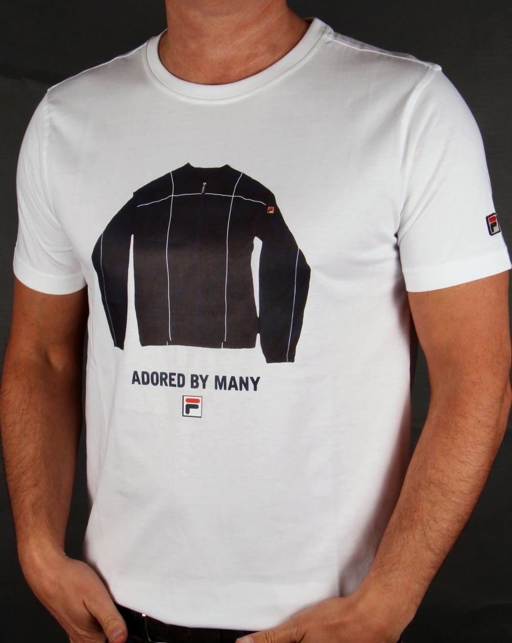 fila vintage adored t shirt white tee terrinda mk3 crew neck mens. Black Bedroom Furniture Sets. Home Design Ideas