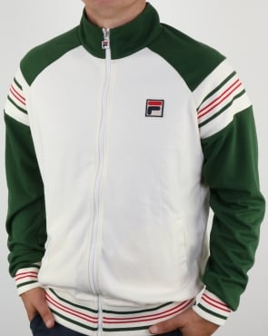 Fila Vintage Advantage Track Top Gardenia/Green/Red