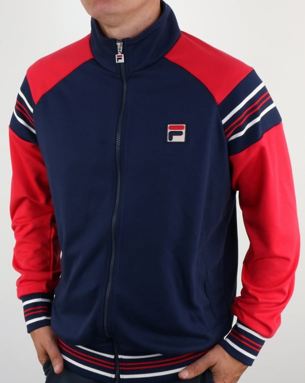 Fila Vintage Advantage Track Top Navy Red