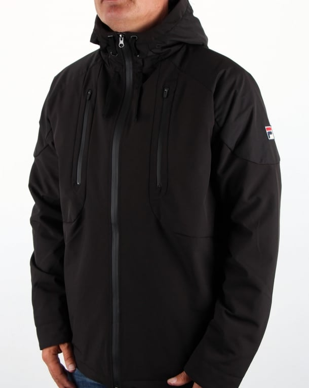 Fila Vintage Alberico Padded Tech Jacket Black