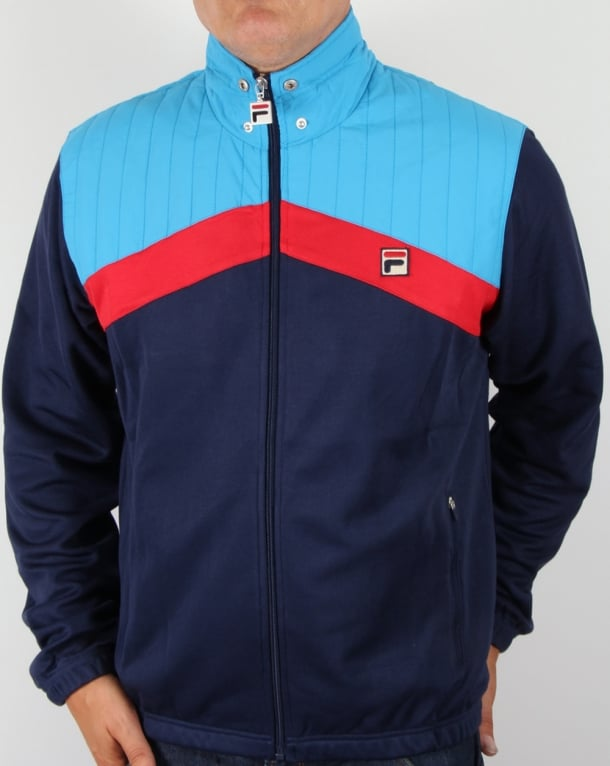 Fila Vintage Alpiaz Ski Track Top Navy/Blue/Red