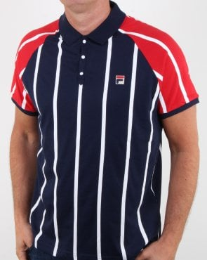 Fila Vintage Antonio Polo Shirt Navy